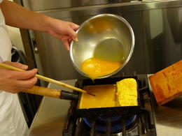 Learning how to prepare a japanese omelet , Mark J - March 2013