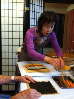 Photo of Kyoto Kyoto Cooking Class, Sake Tasting and Nishiki Food Market Walking Tour Learning to make Japanese food...