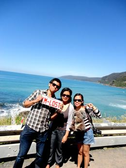 off to the great ocean road :D FUN!!! , Rhiza F - November 2013