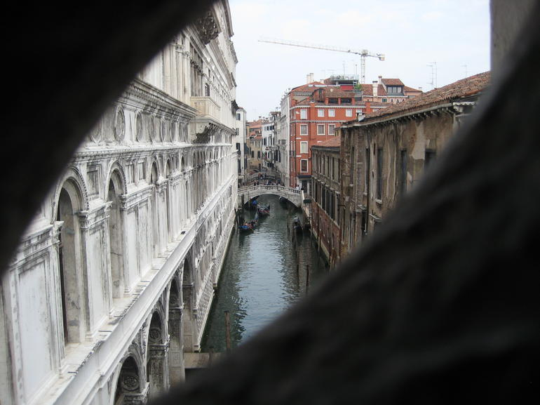 View of the canals from the Doge's Palace - Venice