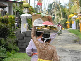 Photo of Bali Bali Cycling Eco Tour with Buffet Lunch Village decorated for Diwali
