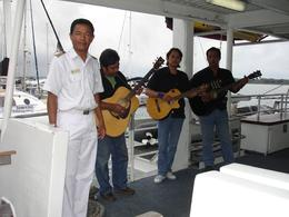 Musicians welcome the visitors on the ship., Madhav N - November 2008