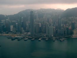 Photo of Hong Kong See Hong Kong Sightseeing Pass Central Ferry piers and ifc from Sky100