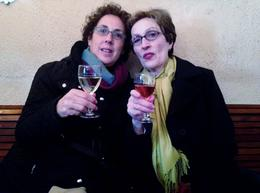 Den and Jenn having an early morning glass of vino. , Denise L - November 2012