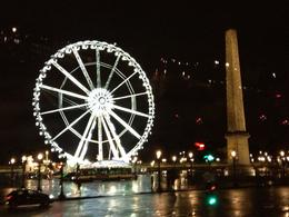 Cleopatras Needle and Roue de Paris in the rain, February 2013 , Anastasia P - February 2013
