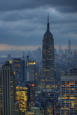 Photo of New York City Top of the Rock Observation Deck, New York EmpireState from TOR