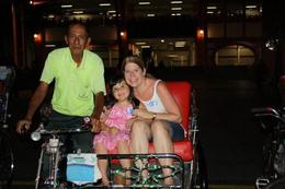 First Trishaw Ride - Singapore - May 2010