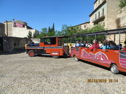 Tourist Tram to visit the medieval city and fortifications avoiding steep hills , John M - June 2016