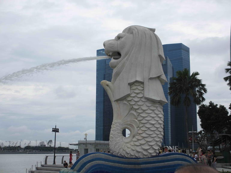 Merlion in Marina Bay area - Singapore