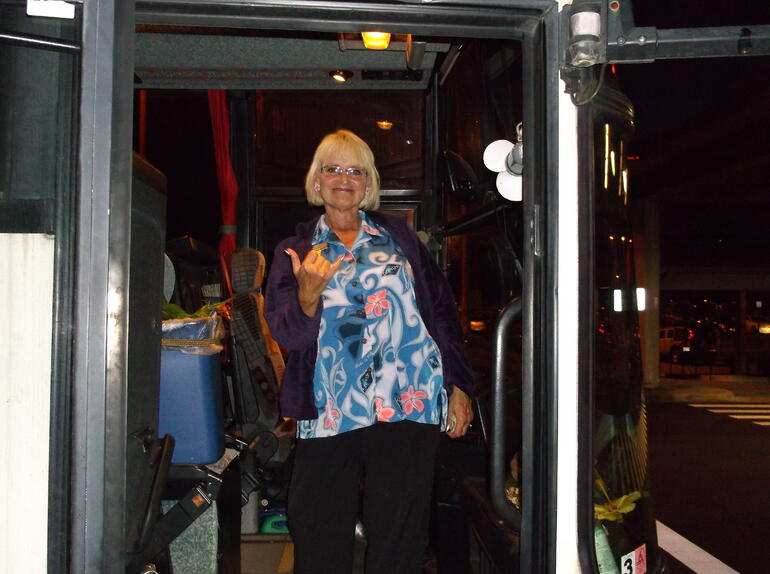 our Driver Sharon - Oahu