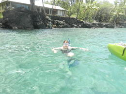 Part of the Aloha Kayaking tour: Snorkeling. , Cynthia A H - September 2013