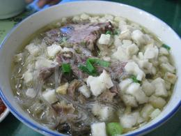 Mutton soup with shredded pancake - May 2012