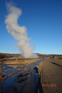 It was so much fun waiting for this geyser to explode. Given it goes off about every 5-8 mins the tension builds - brilliant! , Nicholas R - November 2015