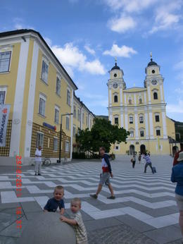 The church where located in Mondsee city where Maria and captain married in the film of The sound of music. , Melinawati S - September 2011