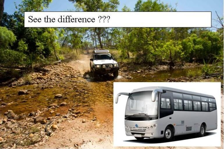 The difference between a BUS and a 4WD !!! - Cairns & the Tropical North