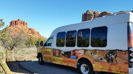This is a pic of the bus that picked us up. Nicer than expected!! Space for 12 or so , kristinsheikh - February 2015