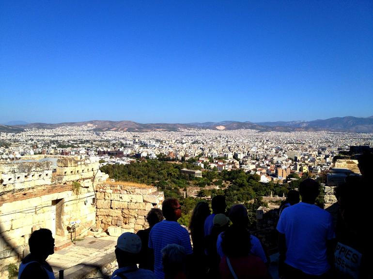 City view from top of Acropolis - Athens