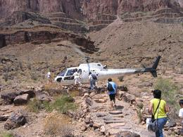 Photo of Las Vegas Grand Canyon West Rim Combo: Luxury SUV, Helicopter and Boat Helicopter we flew in!