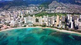 Aerial View of Waikiki Beach , Michelle C - January 2014