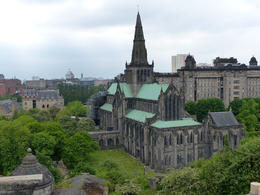 Looking down on Glasgow Cathedral from the Necropolis , Amy - June 2013