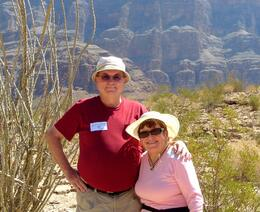 Photo of Las Vegas Grand Canyon All American Helicopter Tour Russ &Elly in canyon.