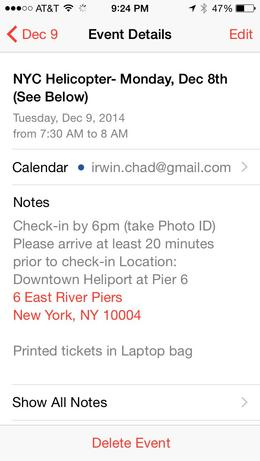 If you have an iPhone,you can just create an event like this and you can understand the confusion. Of course, New Yorkers know the difference between the East River and the Hudson, but out-of ... , Chad Irwin I - December 2014