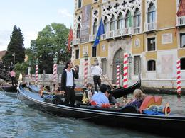 Photo of Venice Venice Gondola Ride and Serenade with Dinner Singer and accordion player on Grande Canale, Venezia
