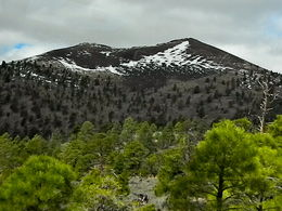 Sunset Crater with cinder rock in foreground , Stanley O - May 2016