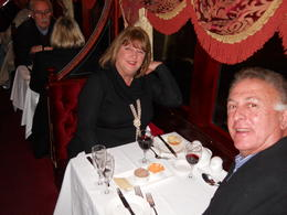 Keven and Jeanette finishing off a fantastic weekend in Melbourne with dinner on the Colonial Tramcar Restaurant. , Jeanette I - August 2013
