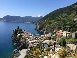 View of Monterosso, after hiking from Corniglia , Whitney H - June 2015