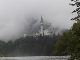 The view of the Neuschwanstein castle taken after small rain. , Sebastian S - August 2015
