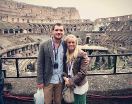 Photo of Rome Skip the Line: Ancient Rome and Colosseum Half-Day Walking Tour Couple in the Colosseum