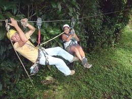 Photo of San Jose Sarapiqui River Sightseeing Cruise and Zipline Canopy Tour from San Jose Guide