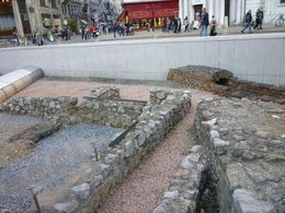 Right outside of Hofburg Palace. These were some pretty cool ruins!, Irene - October 2013