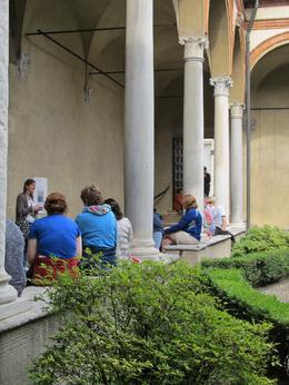 Photo of Milan Skip the Line: Leonardo da Vinci Walking Tour of Milan Including 'The Last Supper' Ticket In the courtyard