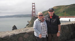 Photo of San Francisco Alcatraz and San Francisco City Tour Jan  and  John at the Golden Gate Bridge San Francisco