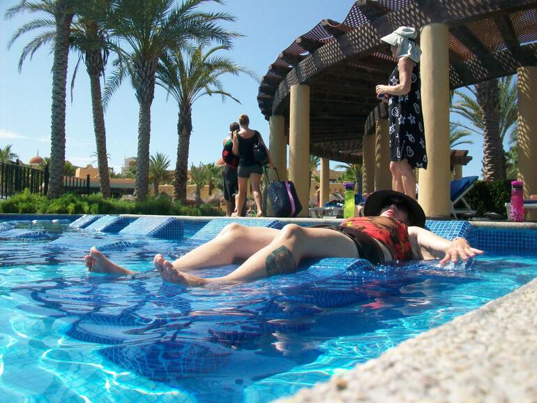 Lounging in the pool - Los Cabos