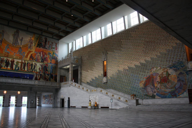 Oslo City Hall (Radhus), venue for the presentation of the annual Nobel Peace Prize. - Stockholm