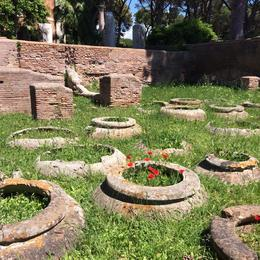 Urns at the ruins of Ostia Antica, laura s - June 2014