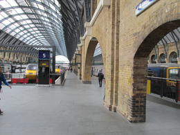 Where the Hogwarts Express met the students during filming. , Nancy - June 2014