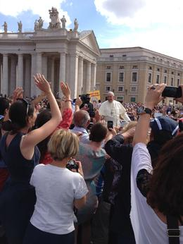 We were even closer than this to the Pope but it is one of our better pictures. , Timothy G - June 2014
