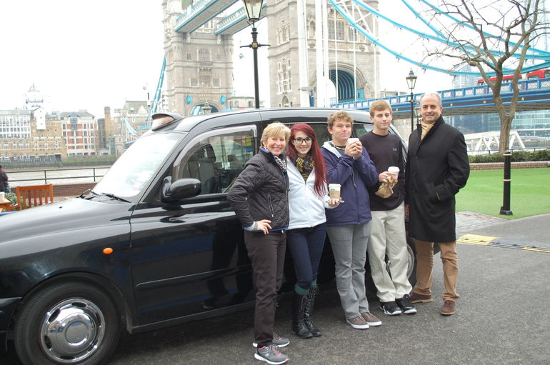 The Mulhall family at London Bridge.