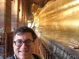 Obligatory 'Selfie' with the Reclining Buddha. , jcdbrown - June 2016