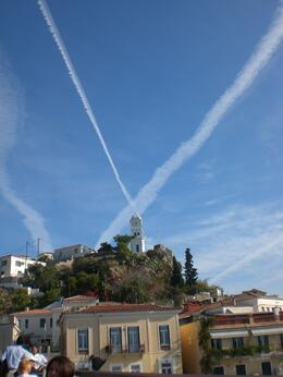 Photo of Athens Hydra, Poros and Egina Day Cruise from Athens St Andrews cross in sky