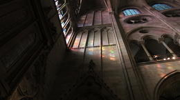A lucky shot...to catch the sun streaming through the stained glass. , toulouse2k - November 2011