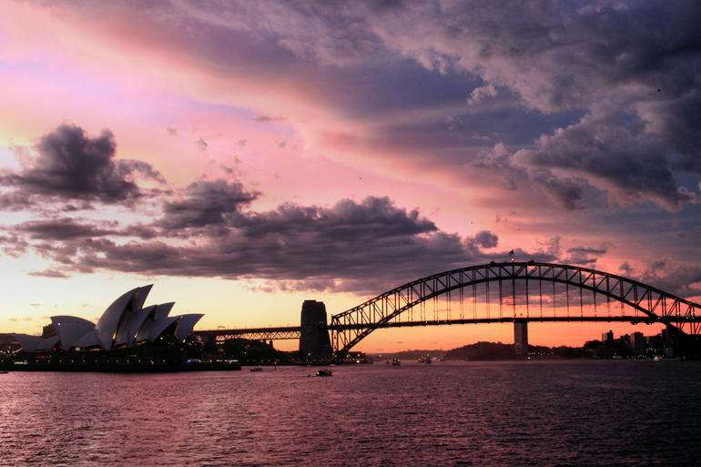 Sunset from the Sydney 2000 Cruise Ship - Sydney
