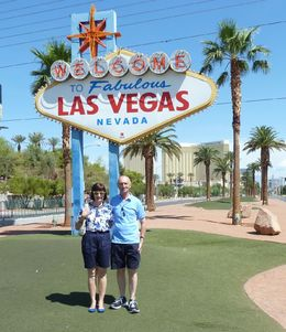 My wife and I at the start of the strip, one of the places you visit on the tour , Mr Michael K W - August 2015