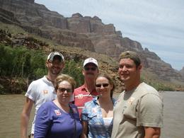 The entire family on the boat going down the Colorado River - May 2010