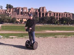 You have no idea how cool I think I look! I'm not wobbling or about to fall off. I am standing proud! Next to Circus Maximus, one of the major sites visited on this tour. Have a go. It is totally fun ... , Bryan M - January 2010