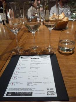 My wine and our information sheet , Rebecca W - September 2012